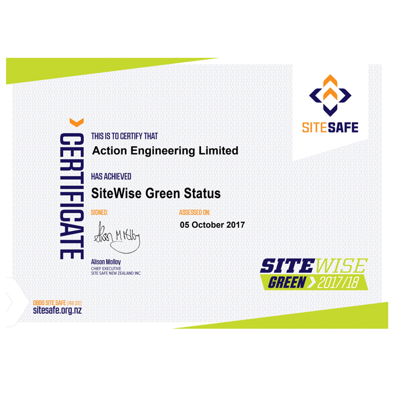 certificate sitewise